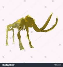 drawing vector isolated poly woolly mammoth stock vector 449795338