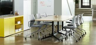 Western Conference Table Western Office Muuto Fiber Chairs