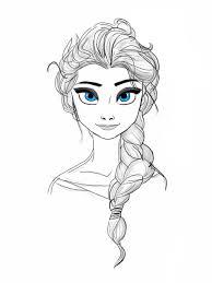 drawing frozen u0027s queen elsa heart