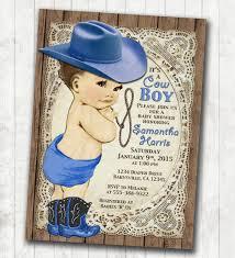cowboy baby shower invitation for boy vintage cowboy free
