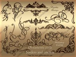 ornaments curls photoshop brushes by lyotta on deviantart