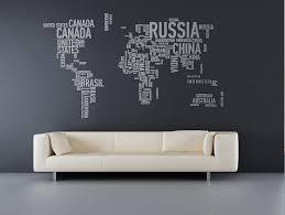 Wall Sticker World Map Interior Design Ideas - Wall sticker design ideas