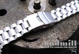 solid stainless steel bracelet images Rolex watch bracelet 20mm endmill solid 316l stainless steel jpg