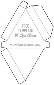 pyramid box template for favor boxes http www planetpals com