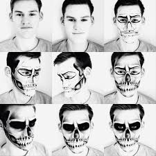 mens halloween skull makeup by loucatherineise inspired by