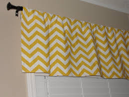 gorgeous gray and white chevron valance 75 yellow and white