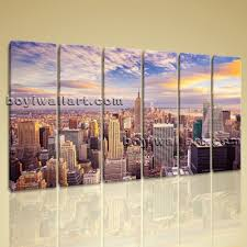 Oversized Wall Art by Beautiful Landscape Mural New York City Picture Print Canvas Wall