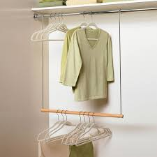 pull down closet hanger bar the helpful pull down closet rod