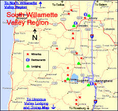 map of oregon wineries maps oregon wine country lodging dining suggestions for the