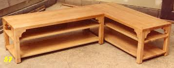 furniture l shaped coffee table ideas brown country style