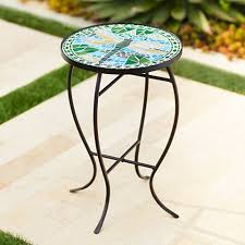 Black Iron Outdoor Furniture by Dragonfly Mosaic Black Iron Outdoor Accent Table 6f094 Lamps Plus