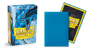 dragon shield matte japanese mini size sleeves sky blue 60ct