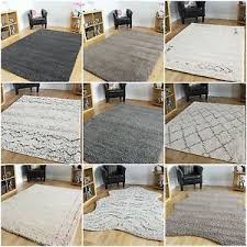 Modern Rugs Medium Large Size Thick Soft Shaggy Rugs Non Shed Chevron Trellis
