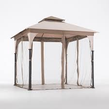 Small Gazebos For Patios by Amazon Com Sunjoy L Gz375pst 8 U2032 X 8 U2032 Marcel Soft Top Gazebo