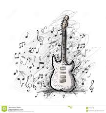 art sketch of guitar design stock vector image 60612648