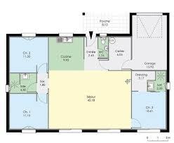 plan de maison plain pied 2 chambres plan maison plain pied