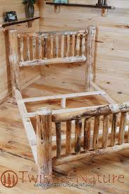 Wooden Log Beds Standard Log Bed Frame Kit Log Bedroom Furniture Twist Of Nature