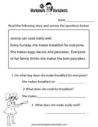 first grade reading passage with comprehension questions and a