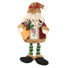 christmas home decoration sitting santa claus ornament flannel toy