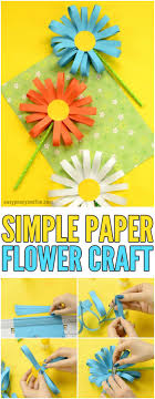 paper flower paper flower craft easy peasy and