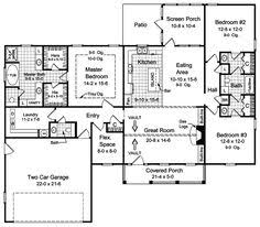 Open Floor Layout Home Plans Midsize Country Cottage House Plan With Open Floor Plan Layout