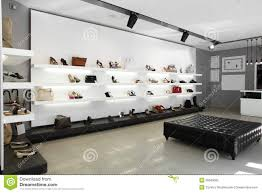 boutique store fashion shop window front led light stock photo