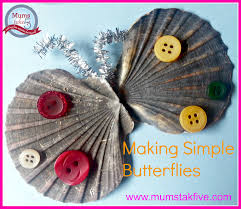 butterfly craft for kids with shells