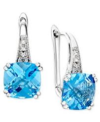 blue topaz earrings blue topaz earrings macy s