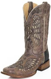 womens corral boots size 12 mens wing and cross square toe rodeo cowboy boots tabacco bone