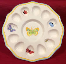 deviled egg serving tray department 56 egg deviled egg butterfly bee plate tray serving