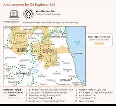 Durham England Map by Os Explorer 308 Durham U0026 Sunderland