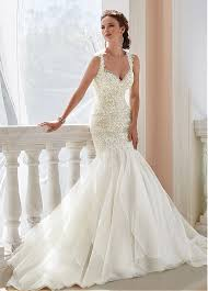 amazing v neck mermaid wedding dresses with lace appliques deo
