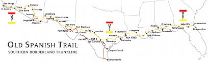 Old Mexico Map by Old Spanish Trail Route Map Old Spanish Trail Pinterest