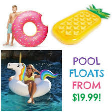 Amazon Pool Floats Fun Pool Floats As Low As 19 99 Pineapple Donut And Unicorn
