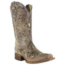 womens cowboy boots in australia corral s vintage inlay and stud square toe boots