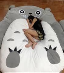 Huge Pillow Bed Amazon Com 310 180cm Huge Cute Cartoon Totoro Double Bed