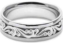 men s wedding bands tacori mens wedding band with engraved scroll work 7 5mm ht2392