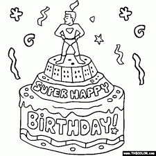 happy birthday coloring pages dad jerzy decoration
