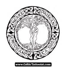 celtic knot tree of stencil golfian com