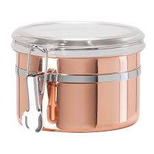 amazon com oggi 26 ounce copper plated stainless steel canister