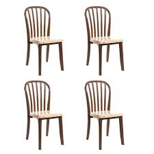 Plastic Furniture Shopping Online India Cello Decent Delux Set Of 4 Chairs Black Amazon In Home U0026 Kitchen