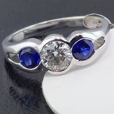 engagement rings sapphires images 14k half bezel diamond and sapphire engagement ring exeter jewelers jpg