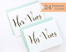 wedding vow cards gold foil his vows vows wedding cards cards to hold your