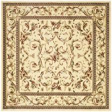 Square Area Rugs 10 X 10 Shop Safavieh Lyndhurst Lyon Ivory Ivory Square Indoor Machine