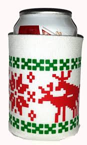 amazon com ugly christmas sweater party can cover huggie beer