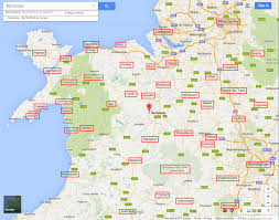 Cheshire England Map distance to tourist destinations in wales and england