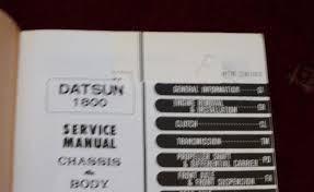 nissan service manual datsun 1800 model c30 series chassis