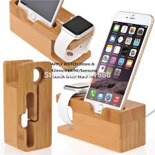 iwatch theme for iphone 6 100 natural bamboo charging dock station bracket cradle stand