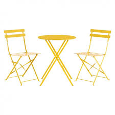 Ornate Metal Folding Bistro Chair Parc 2 Seat Yellow Metal Folding Bistro Table And Chairs Set Buy