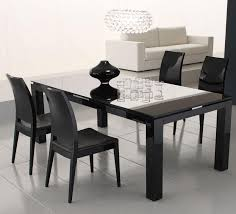 Black Glass Dining Table And 4 Chairs Black Dining Table With Glass Top Dining Tables Dining